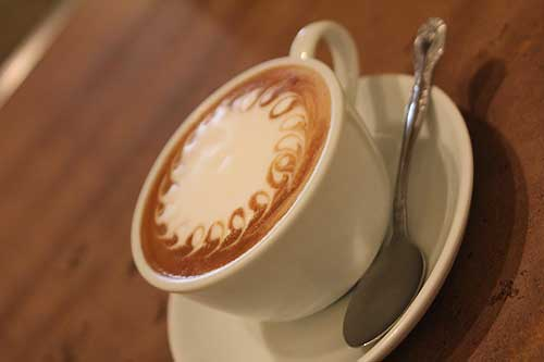 泡もきめ細やかなカフェラテ