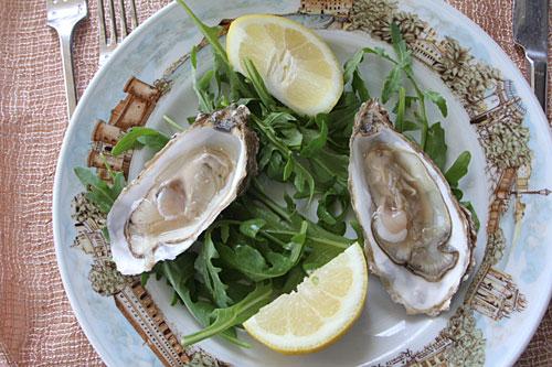 生牡蠣は1ピース3ユーロ